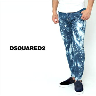 Dsquared and DSQUARED2 dsquared jeans and SEXY TWIST JEAN / solid denim bleach denim stretch jeans / indigo blue green metal logo S71LA0918