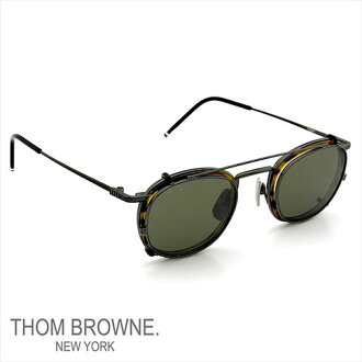 Thom glasses THOM BROWNE. NEW YORK EYEWEAR (Thom York) new + clip-on sunglasses [TB-710-A 46size BLK-WLT] BLACK IRON-WALNUT P08Apr16