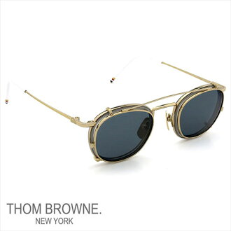 Thom glasses THOM BROWNE. NEW YORK EYEWEAR (Thom York) new glasses + clip-on sunglasses 12 k GLOLD-SATIN GREY P08Apr16