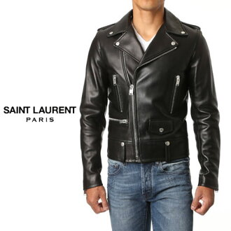 397290Y5YA11000 SAINT LAURENT L01 classic motorcycle jacket (black leather)