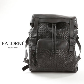 FALORNI falorni rucksack backpack intrecciato leather black bag 866 others