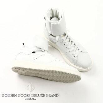金鹅 / 没有高切运动鞋 HI.STARTER 运动鞋的小牛皮革起动器白色 g29ms102 a1