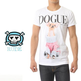 Rude路得人T恤短袖印刷T恤DOGUE m-dogue