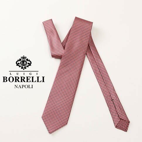 Luigi Borrelli ルイジ ボレッリ ネクタイ ピンク シルク100% nr85-t4256-07
