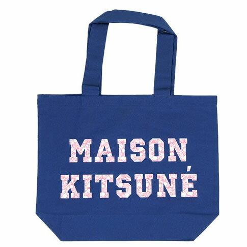 MAISON KITSUNE メゾンキツネ トートバッグ TOTE BAG PIXEL fw17u810-navy ネイビー