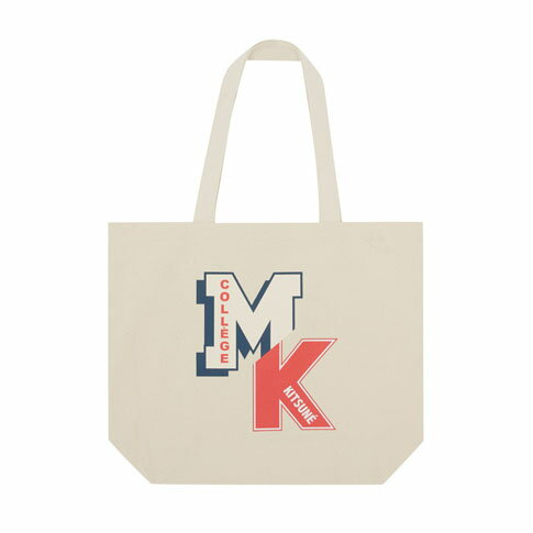 MAISON KITSUNE メゾンキツネ トートバッグ TOTE BAG MK COLLEGE fw17u814-ecru アイボリー