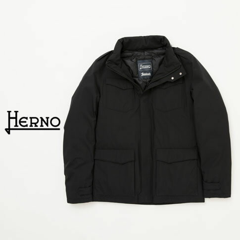 【BLACK FRYDAY!! 期間限定企画】【新作HERNO 全品20%OFF】HERNO / ヘルノ メンズ Laminar(ラミナー)M65 ダウンジャケット ラミナー ゴアテックス ブラック PI075UL 9300