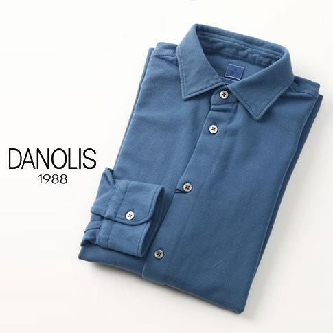 【アフターセール】DANOLIS/ダノリス スペシャルウォッシュド加工 長袖 台衿付き 鹿の子 ポロシャツ アカプルコ・ブルー 全4色 B3013367-787