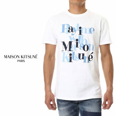 MAISON KITSUNE メゾンキツネ 半袖 Tシャツ TEE SHIRT PLAYTIME ss17m718-wh ホワイト