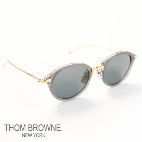 【全品ポイント還元中】トムブラウン メガネ THOM BROWNE. NEW YORK EYEWEAR(トムブラウン ニューヨーク)サングラス[TB-011-G-T-GRY-GLD-49]TB-011