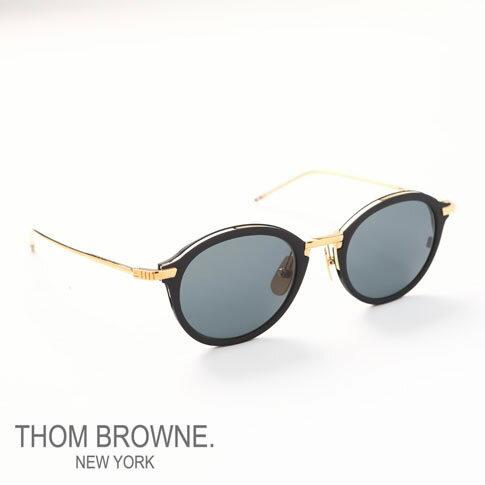 【全品ポイント還元中】トムブラウン メガネ THOM BROWNE. NEW YORK EYEWEAR(トムブラウン ニューヨーク)サングラス[TB-110-A-T-BLK-GLD-48]TB-110
