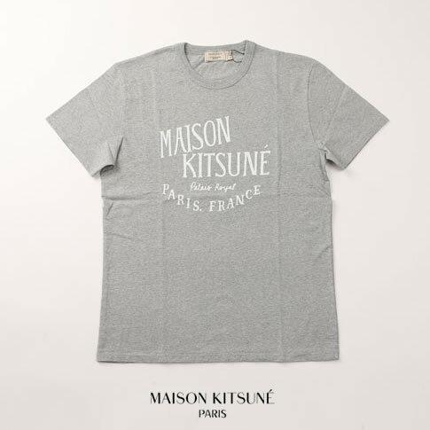 MAISON KITSUNE メゾンキツネ 半袖 Tシャツ PERM TEE SHIRT JE SUIS ALLE am00100-at1500-grm グレー