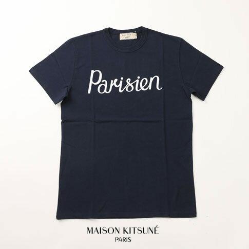 MAISON KITSUNE メゾンキツネ 半袖 Tシャツ ネイビー ss17m703-na