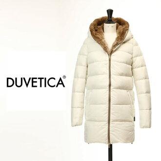 DUVETICA duvet Thika CARYS RexLapin.Fur col .021 DUVETICA Lady's duvet Thika chalice down jacket rabbit fur off-white carys-021
