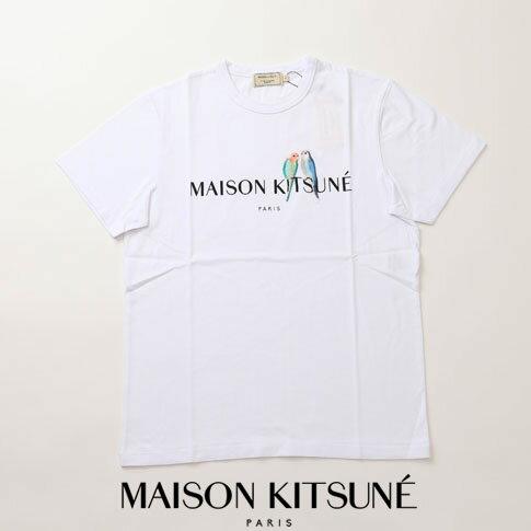 MAIZON KITSUNE メゾンキツネ Tシャツ ホワイト am00117-at1501-wh