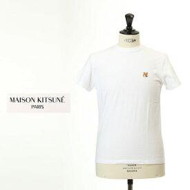 【2020FINALSALE開催】MAISON KITSUNE メゾンキツネ 半袖 Tシャツ キツネ 刺繍 ホワイト am0103kj-0008-wt