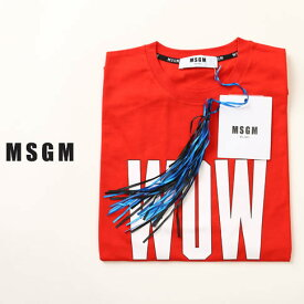 【お買い物マラソン × クリアランスセール】MSGM エムエスジーエム Tシャツ コットン レッド mm142-184299-18