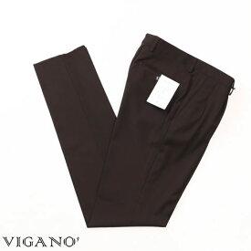VIGANO ヴィガーノ ウールパンツ ブラウン vig99-5737-386