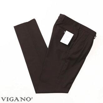 VIGANO ヴィガーノウールパンツブラウン vig99-5737-386