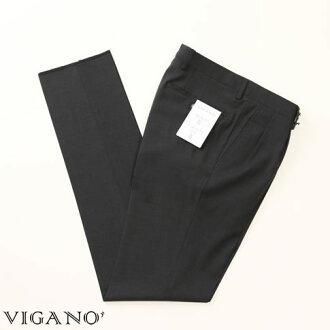 VIGANO ヴィガーノウールパンツチャコールグレー vig99-5737-943