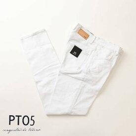 最終値下げクリアランスセールPT05 ピーティーゼロチンクエ DRESS FIT ドレスフィット re-tailored denim テーラードデニム ストレッチ ホワイト c6gtg5-pm02-0010