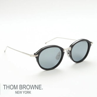 Thom glasses THOM BROWNE. NEW YORK EYEWEAR (Thom York) sunglasses [TB-011-H-T 49size NAVY/SILVER BRIDGE AND TEMPLES] TB-011-H-T-49