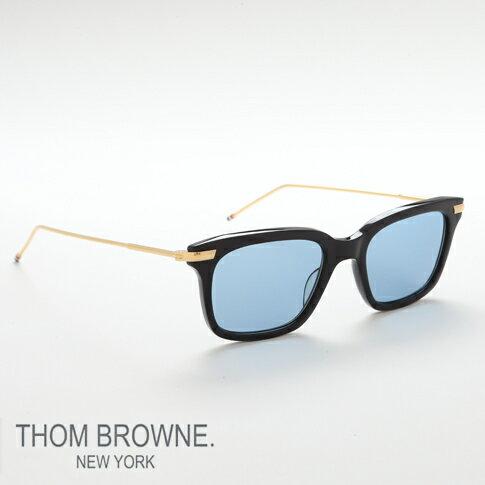 トムブラウン メガネ THOM BROWNE. NEW YORK EYEWEAR トムブラウン サングラス[TB-701 D-NVY-GLD 49size NAVY-SHINY 18K GOLD METAL]TB-701-D-NVY-GLD-49