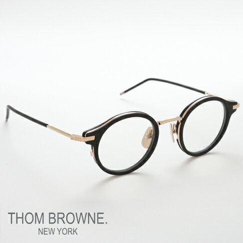 【全品ポイント還元中】トムブラウン メガネ THOM BROWNE. NEW YORK EYEWEAR(トムブラウン ニューヨーク)メガネ [TTB-807-A BLk-12kGLD 45size]TB-807-A-45