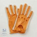 【限定品】メローラ / MEROLA GLOVES【メローラ 手袋】 ラムナッパ x コットンニット編み ドライビンググローブ ハン…