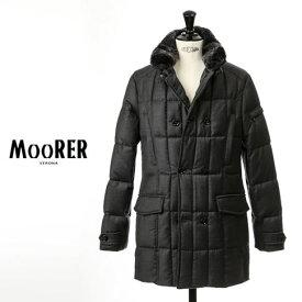 【2021 クリアランス】MOORER MORRIS / ムーレー カシミア混ウール メンズ ダブルブレスト セミロングダウンジャケット MORRIS L モーリス ANTRACITE / チャコールグレー