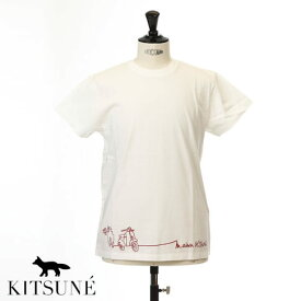 MAISON KITSUNE メゾンキツネ 半袖 Tシャツ ヴェスパ プリントTシャツ ECRU オフホワイト 0106kj-0010-ecru