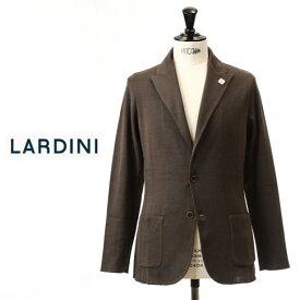 最終値下げクリアランスセールラルディーニ LARDINI ラルディーニ ジャケット コットン ニットジャケット ピークドラペル コットン ジャージージャケット ブラウン EGLJM20 52001 450