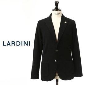 最終値下げクリアランスセールラルディーニ LARDINI ラルディーニ ジャケット コットン ニットジャケット ピークドラペル コットン ジャージージャケット ブラック EGLJM20 52001 999