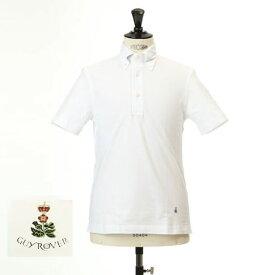 最終値下げクリアランスセールGuy Rover ギローバー 鹿の子 ポロ ボタンダウン 半袖ポロシャツ 台衿付き ホワイト pc224-591500-01