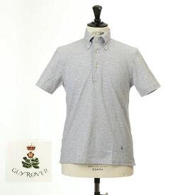 最終値下げクリアランスセールGuy Rover ギローバー 鹿の子 ポロ ボタンダウン 半袖ポロシャツ 台衿付き グレー pc224-591500-05