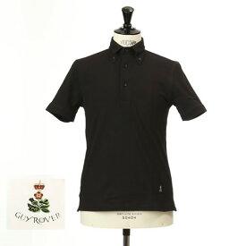 最終値下げクリアランスセールGuy Rover ギローバー 鹿の子 ポロ ボタンダウン 半袖ポロシャツ 台衿付き ブラック pc224-591500-06