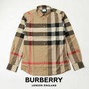 BURBERRY バーバリーストレッチ チェック シャツ Limited availability Check Stretch Cotton Poplin Shirt ARCHIVE B…