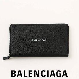 バレンシアガ 財布 BALENCIAGA 長財布 CASH CONT WALLET ラウンドファスナー レザーウォレット レディース メンズ ユニセックス Black/White 594317 0OTV3 1090 NOIR BLANC