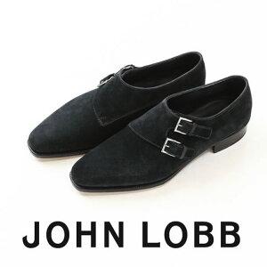 【ブラックフライデー全品ポイント還元】JOHN LOBB純正ブラシ付(HARD&SOFT)JOHN LOBB / ジョンロブ CHAPEL / チャペル ダブルモンクストラップ 8000番 Eワイズ シューツリー&純正ブラシ付 Midnight(D