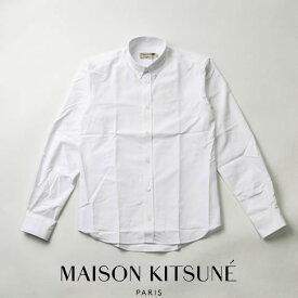 【2020半期決算セール】MAISON KITSUNE メゾンキツネ ボタンダウンシャツ ホワイト OXFORD FOX EMBROIDERY CLASSIC SHIRT BD DM00408WC0003-WH