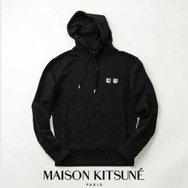 定番大人気再入荷!MAISON KITSUNE メゾンキツネ スウェット パーカー ブラック HOODIE DOUBLE FOX HEAD PATCH EU00353KM0001-BK