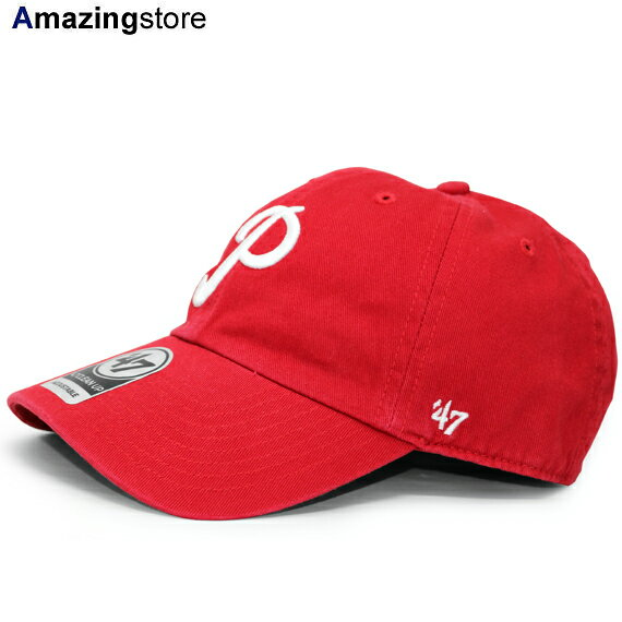 47ブランド フィラデルフィア フィリーズ 【MLB COOPERSTOWN CLEAN UP STRAPBACK/RED】 47BRAND PHILADELPHIA PHILLIES [18_7_1FTS_18_7_2]