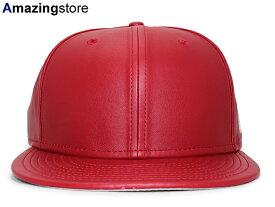 NEW ERA 【59FIFTY-LEATHER BLANK/RED】 ニューエラ フラッグ [BIG_SIZE 17_4_2BLA 17_4_3]