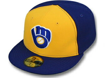 NEW ERA MILWAUKEE BREWERS 【MLB COOPERSTOWN ROBIN YOUNT 1978-85 GAME/RYL BLUE-GOLD】 ニューエラ ミルウォーキー ブルワーズ ロビン ヨーント 59FIFTY フィッテッド キャップ FITTED CAP クーパーズタウン [帽子 cap 17_5_5 17_6_2 17_6RE 17_7RE]