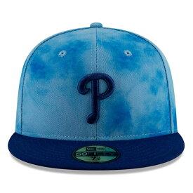 【父の日モデル】ニューエラ 59FIFTY フィラデルフィア フィリーズ 【MLB 2019 FATHERS DAY ON-FIELD/BLUE-BLUE】 NEW ERA PHILADELPHIA PHILLIES [19_5_5NE 19_6_1]