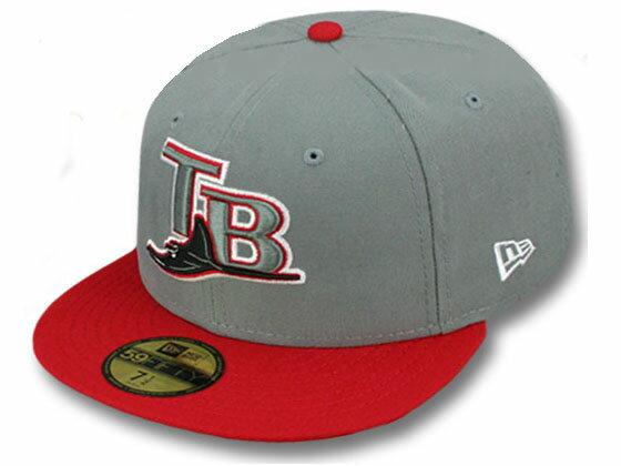 NEW ERA TAMPA BAY DEVIL RAYS 【OPPOSITE 2T TEAM-BASIC/GREY-RED】 ニューエラ タンパベイ デビルレイズ 59FIFTY FITTED CAP フィッテッド キャップ MLB グレー GRAY レッド [帽子 ヘッドギア new era cap ニューエラキャップ 大きい サイズ 17_1_5 17_2_1 17_2RE]