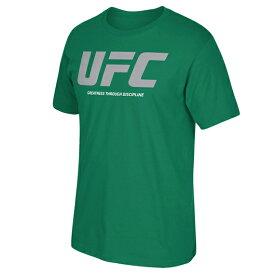 【半額】【あす楽対応】リーボック UFC Tシャツ 【LOGO T-SHIRT/GRN】 REEBOK [19_1_4UFC 19_1_5]
