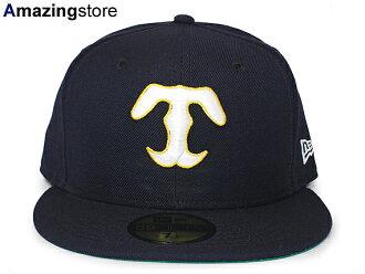 95868168299 NEW ERA OSAKA TIGERS new gills Osaka Tigers HANSHIN TIGERS Hanshin Tigers  59FIFTY フィッテッドキャップ FITTED CAP professional baseball navy dark blue  hat ...