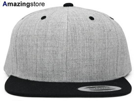 ユーポン フレックスフィット 【PREMIUM CLASSIC 2-TONE BLANK SNAPBACK/HEATHER GREY-BLK】 YUPOONG FLEXFIT [for3000 18_4_3FLX 18_4_4]