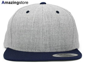 ユーポン フレックスフィット 【PREMIUM CLASSIC 2-TONE BLANK SNAPBACK/HEATHER GREY-NAVY】 YUPOONG FLEXFIT [for3000 19_6RE]